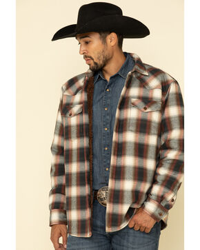 Cody James® Men's Wood Chuck Plaid Flannel, Brown, hi-res