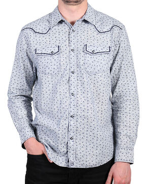 Moonshine Spirit® Men's Floral Long Sleeve Shirt , Grey, hi-res