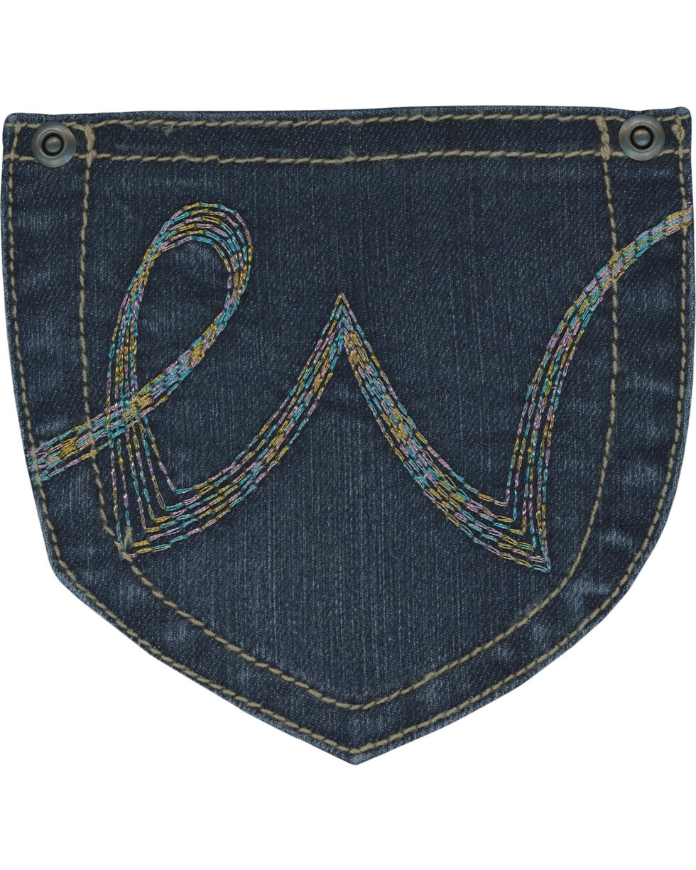 Wrangler Girls' Simple Pocket Jeans - Boot Cut , Indigo, hi-res