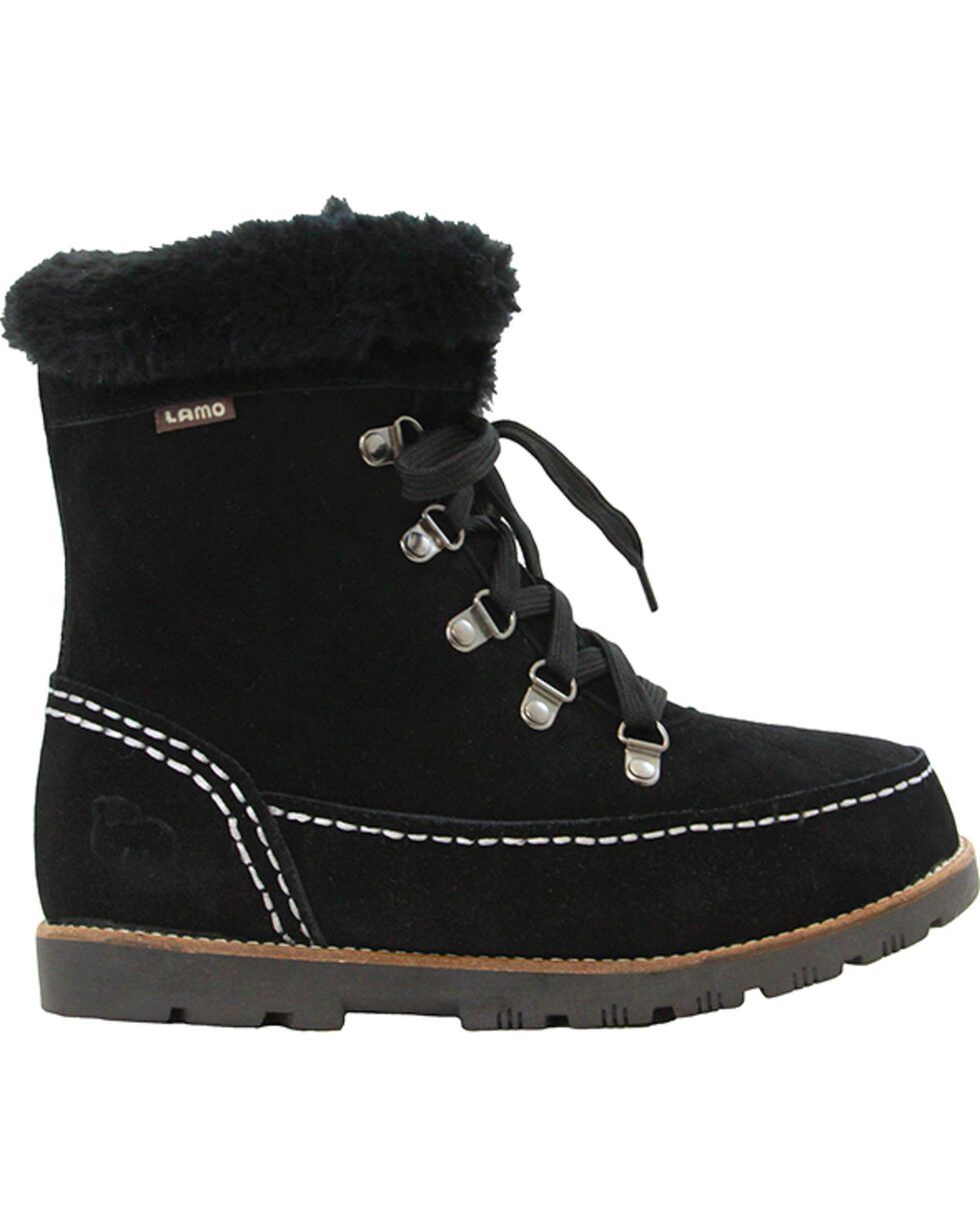 Lamo Footwear Women's Taylor Lace-Up Boots - Round Toe, Black, hi-res