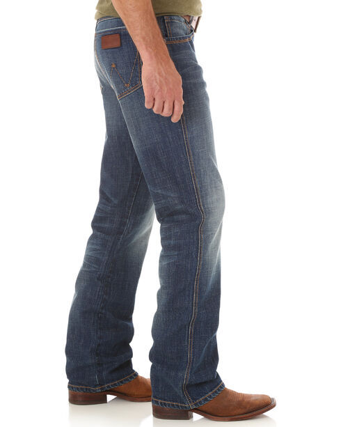 Wrangler Men's Retro Relaxed Fit Mid Rise Boot Cut Jeans, Indigo, hi-res
