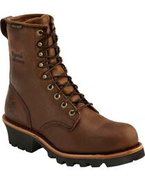Chippewa Women's Waterproof Insulated Steel Toe Logger Boots, , hi-res