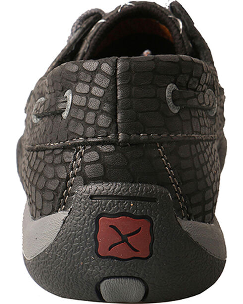 Twisted X Women's Black Fish Grey Driving Mocs - Moc Toe, Black, hi-res