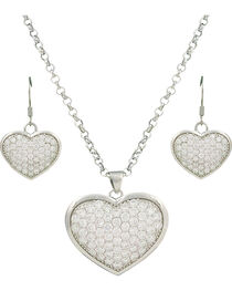 Montana Silversmiths Star Lights Heart Jewelry Set, , hi-res