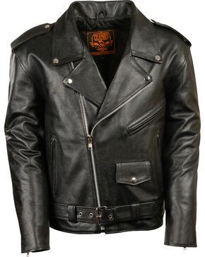Milwaukee Leather Men's Black Classic Police Style M/C Jacket - Big 4X , Black, hi-res