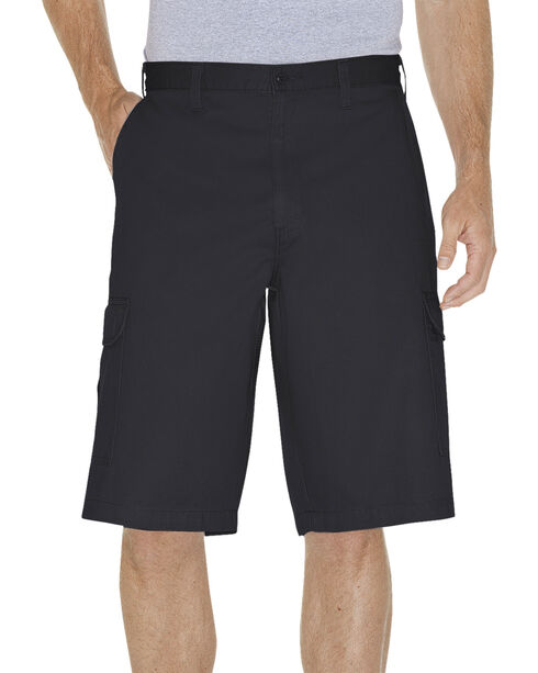 "Dickies Loose Fit 13"" Cargo Shorts - Big and Tall, Black, hi-res"