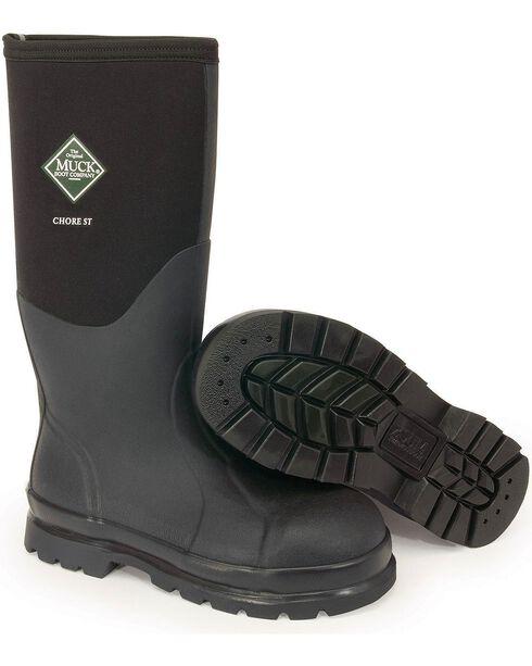 The Original Muck Boot Co. Chore Steel Toe Work Boots, Black, hi-res