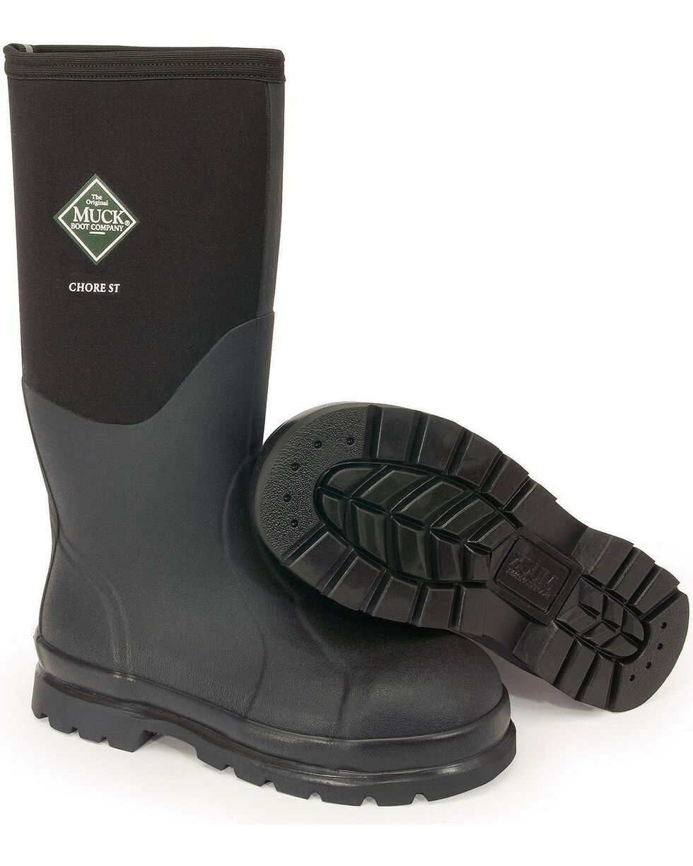 The Original Muck Boot Co. Chore Steel Toe Work Boots, Black, hi-res