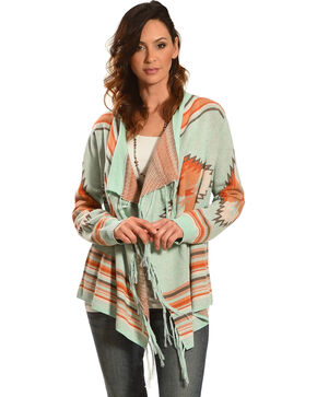 Tasha Polizzi Women's Blue Arizona Cardigan , Blue, hi-res