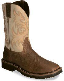 """Justin Men's Stampede 11"""" Western Work Boots, , hi-res"""