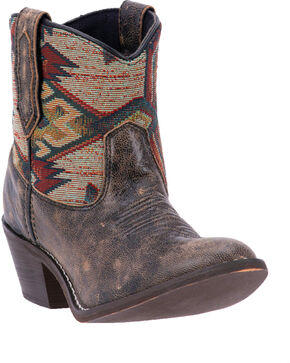 Laredo Women's Leather Micah Western Booties, Taupe, hi-res