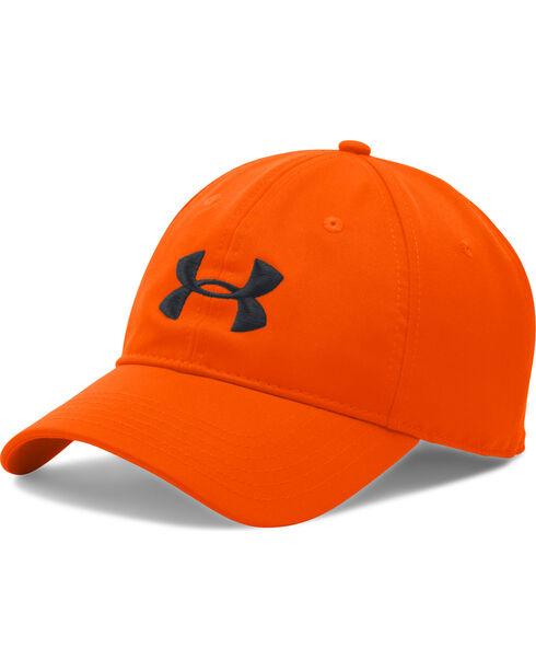 Under Amour Men's Logo Baseball Cap, Orange, hi-res