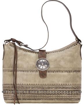 American West Women's Trading Post Conceal Carry Shoulder Bag, Sand, hi-res