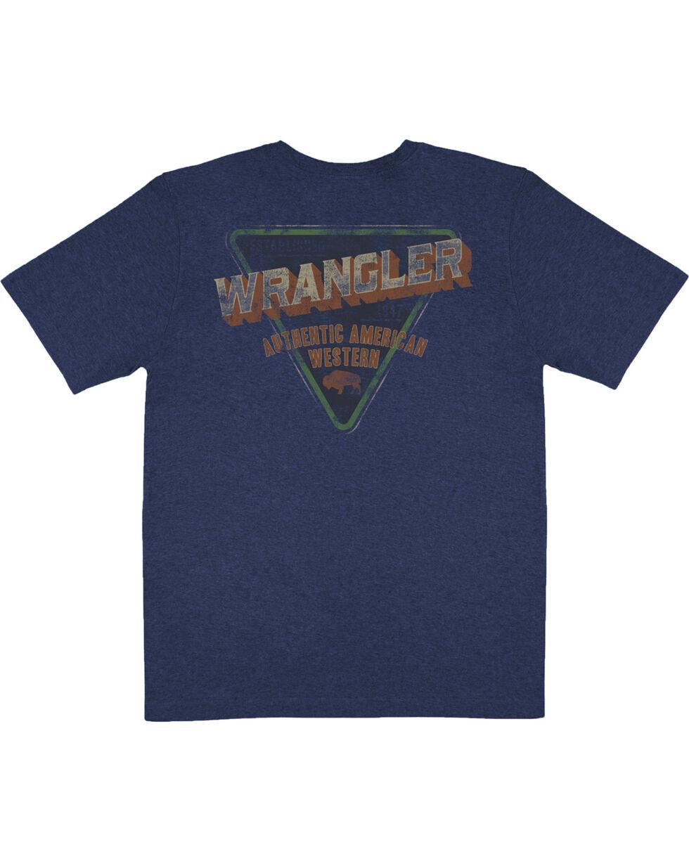 Wrangler Men's Navy Authentic American Western Tee , Navy, hi-res