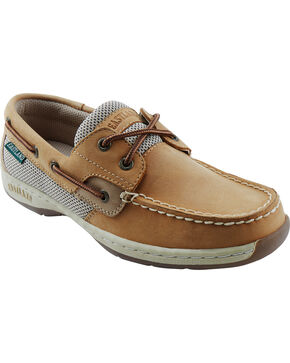 Eastland Women's Tan Solstice Boat Shoe Oxfords , Tan, hi-res
