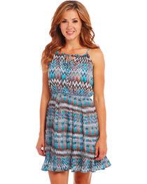 Cowgirl Up Blue Zig Zag Dress, , hi-res