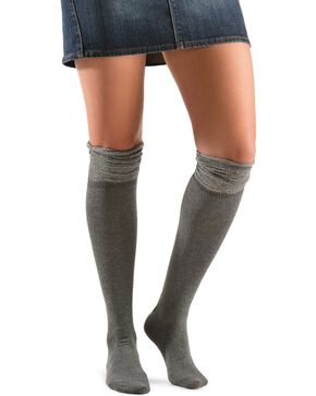 Blazin Roxx Grey Sparkle Knee-High Socks, Grey, hi-res