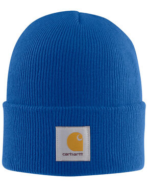 Carhartt Men's Acrylic Watch Hat, Blue, hi-res