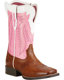 Ariat Youth Girls' Buscadero Cowgirl Boots - Square Toe, , hi-res