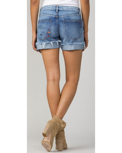 MM Vintage Women's Indigo Riley Boyfriend Shorts, Indigo, hi-res