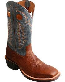 Twisted X Men's Ruff Stock Denim Cowboy Boots - Square Toe, , hi-res