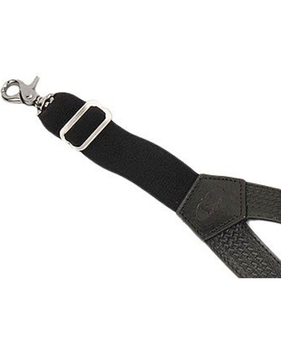 Nocona Black Leather Suspenders, Black, hi-res