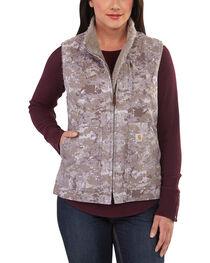 Carhartt Women's Hybrid Camo Sandstone Vest, , hi-res