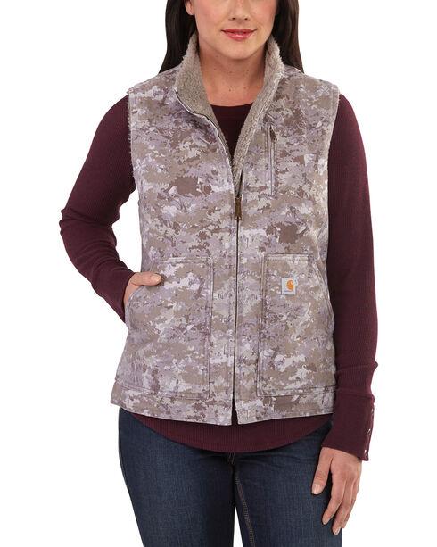 Carhartt Women's Hybrid Camo Sandstone Vest, Purple, hi-res