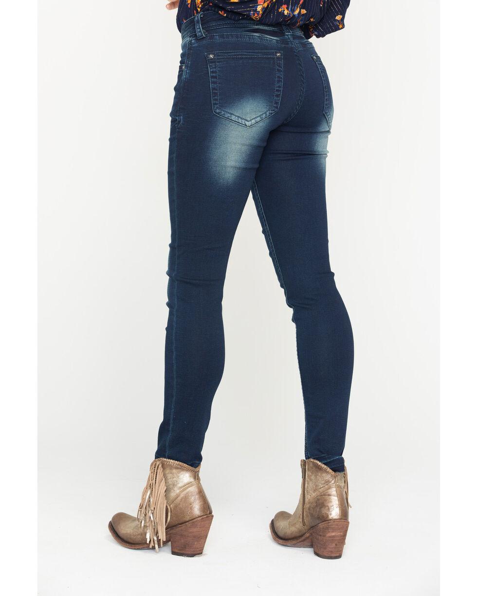 Grace in LA Women's Simple Design Jeans - Skinny , Indigo, hi-res