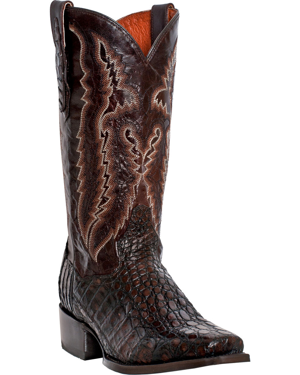 "Dan Post Men's 13"" Lagoon Caiman Western Boots, Black, hi-res"
