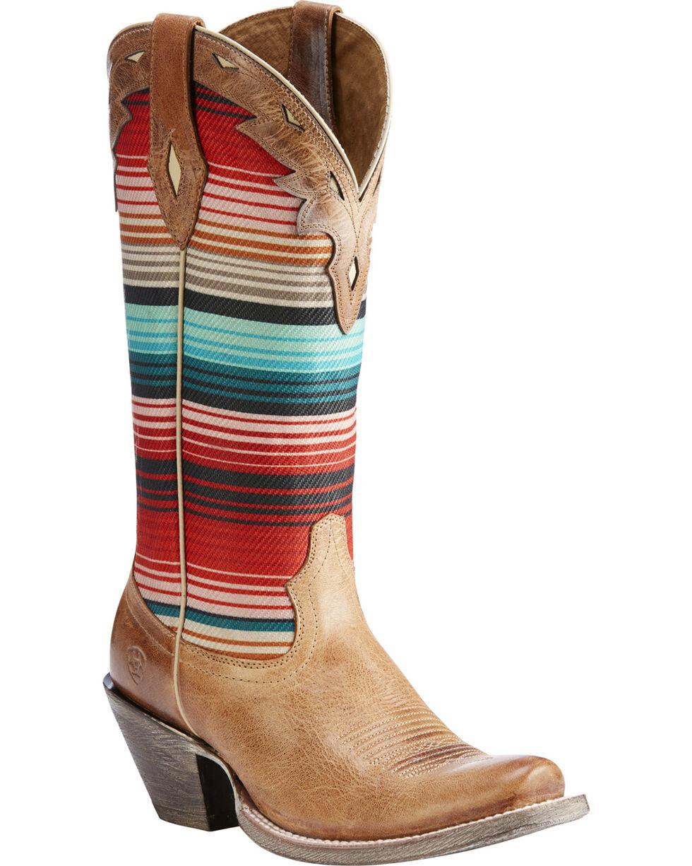 Ariat Women's Tan Circuit Cheyenne Western Boots - Square Toe , Tan, hi-res