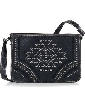 Montana West Women's Southwestern Collection Messenger Bag, Black, hi-res
