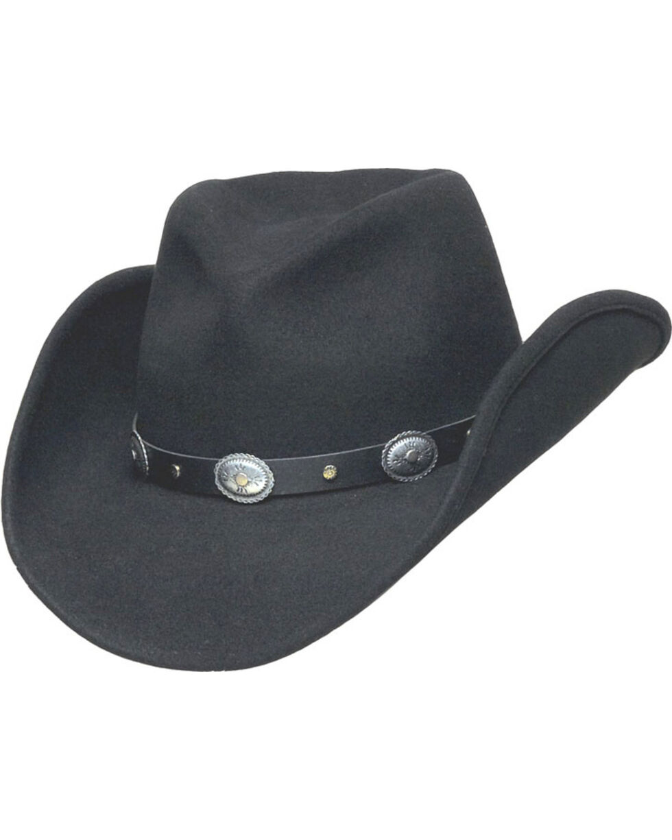 Western Express Men's Black Santa Fe Crushable Wool Hat , Black, hi-res