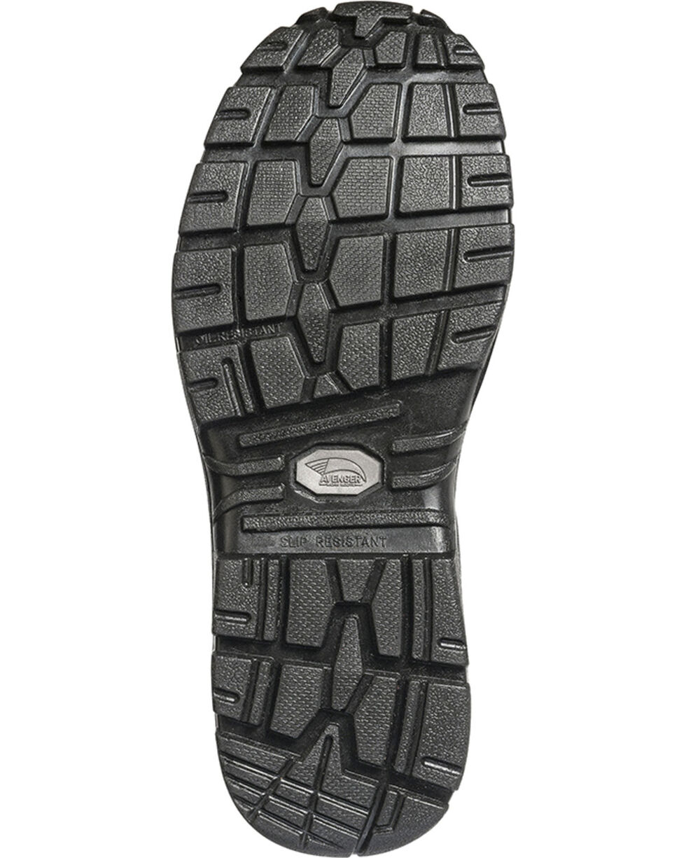 "Avenger Men's 6"" Steel Toe Lace Up Work Boots, Brown, hi-res"