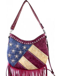Montana West America Pride Fringe Hobo Bag, , hi-res