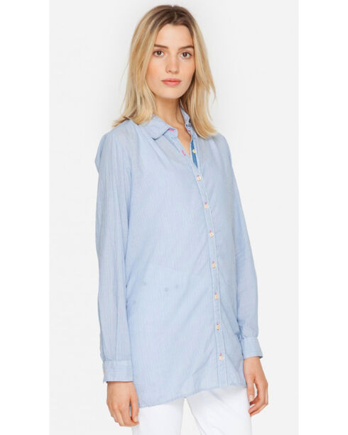 3J Workshop by Johnny Was Women's Blue Bellitini Scarf Back Tunic, Blue, hi-res