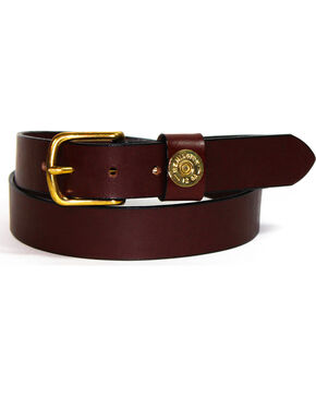 SouthLife Supply Men's Cash Single Shot Belt, Chocolate, hi-res