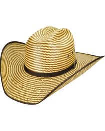 Bailey Men's Western Keel II Rodeo Two-Tone Straw Hat, , hi-res