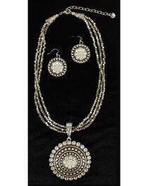 Blazin Roxx Multi-strand Round Pendant Necklace & Earrings Set, , hi-res