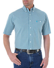 Wrangler George Strait Men's Mini Checks Short Sleeve Shirt, , hi-res