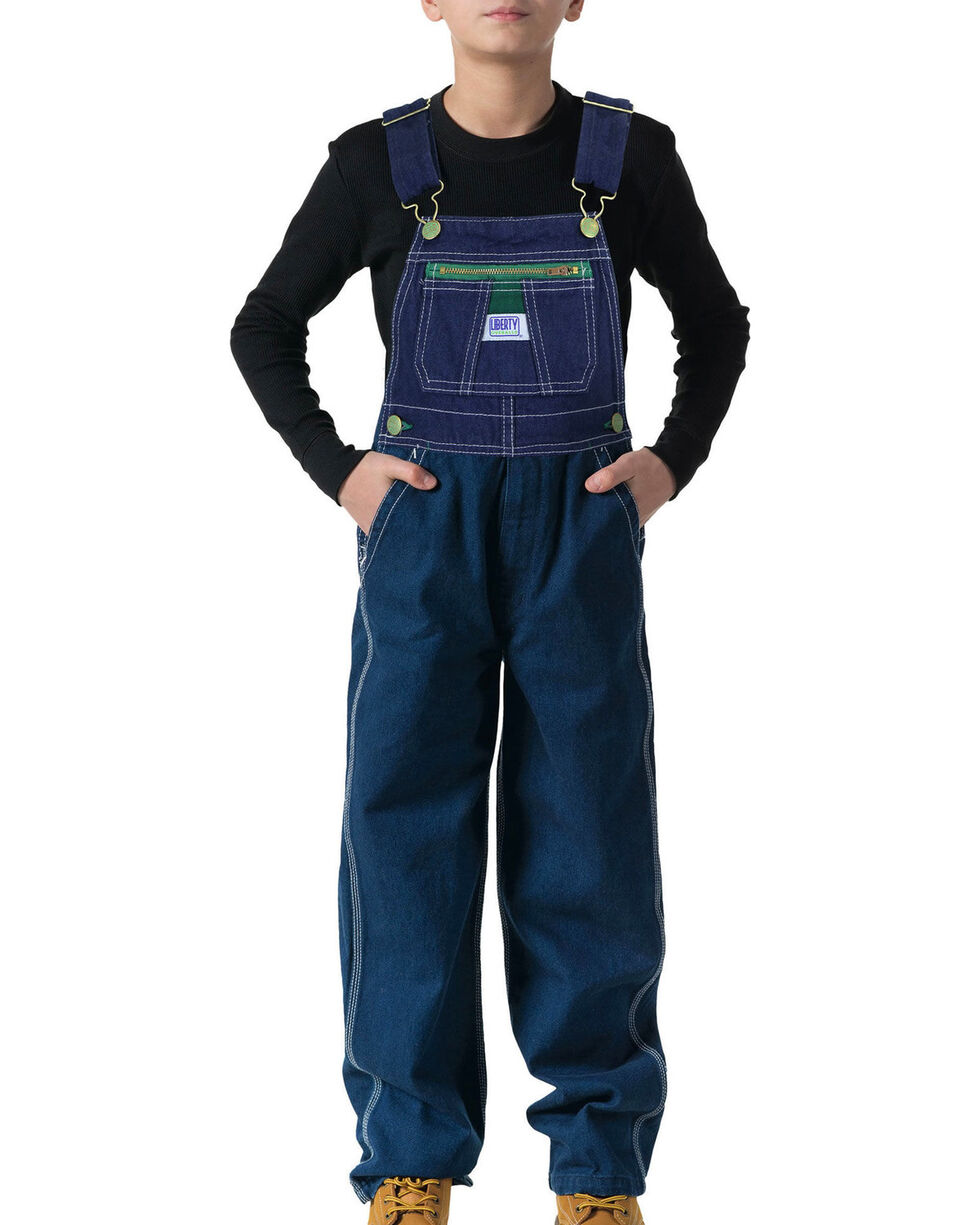 Walls Boys' Liberty Denim Bib Overalls, Denim, hi-res