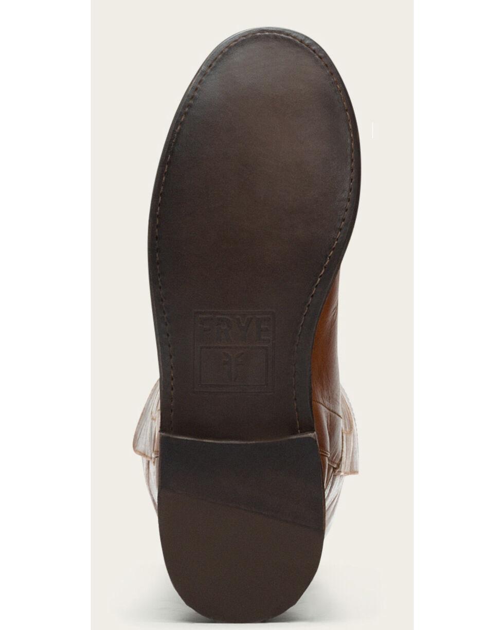 Frye Women's Cognac Paige Tall Riding Boots - Round Toe , Cognac, hi-res
