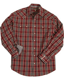 Stetson Men's Red Matrix Western Plaid Shirt , , hi-res