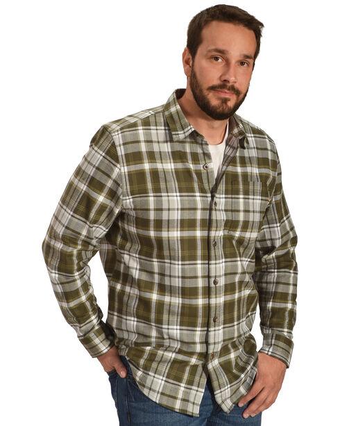 Timberland PRO Men's Navy Plaid Flannel Work Shirt, Olive, hi-res