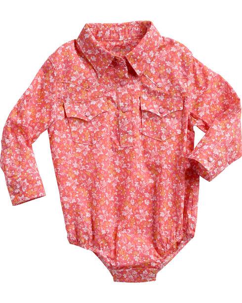 Wrangler Infant Girls' Pink Ditsy Floral Printed Onesie , , hi-res