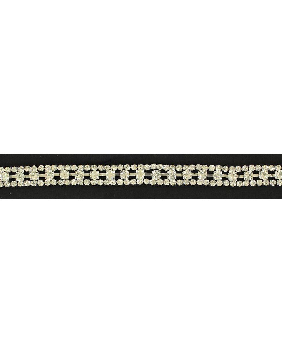 Triple Row Rhinestone Hatband, Silver, hi-res
