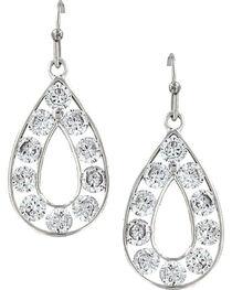 Montana Silversmiths Women's Radiant Teardrop Earrings, Silver, hi-res