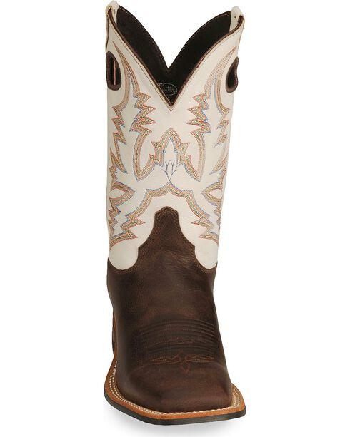 Justin Men's Bent Rail Boots, Brown, hi-res