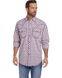 Cowboy Up Men's Two Chest Pocket Enzyme Wash Shirt , , hi-res