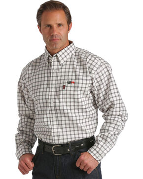 Cinch WRX Men's Flame Resistant Long Sleeve Work Shirt, White, hi-res